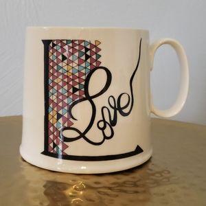 Anthropologie L is for Love Mug